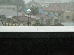 アルファから見えた雨の風景