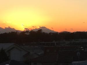 教室から見えた富士山