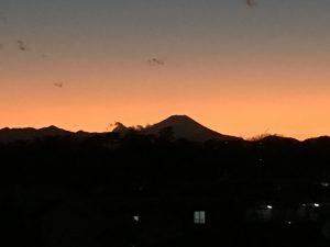 教室アルファから見た富士山